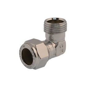Angle coupling with nut, male connection, DZR brass