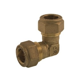 Double elbow coupling DZR brass