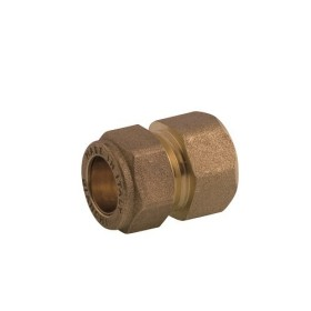 Straight female coupling DZR brass