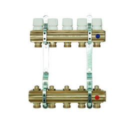 Brass manifolds, with therm. valves and lockshield