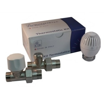 Straight thermostatic kit for copper, multilayer, Pex pipe