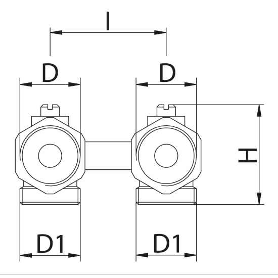 Scheda tecnica - Angle H double valve for panels radiators
