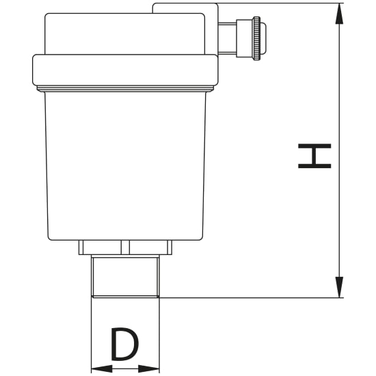 Scheda tecnica - Automatic air discharge valve with side drain