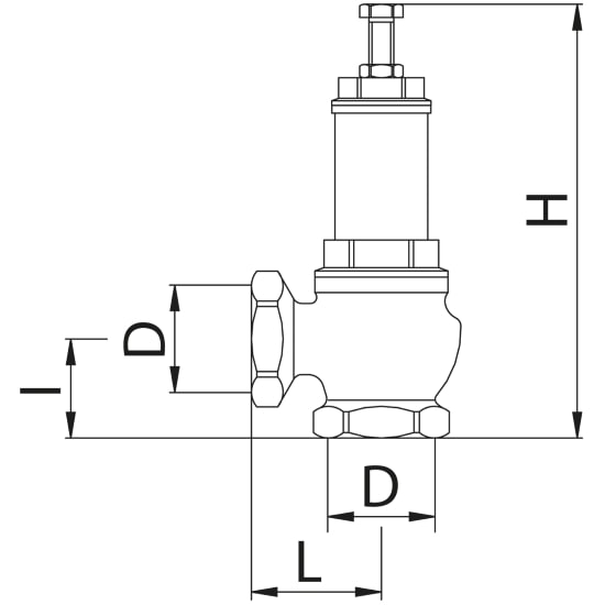 Scheda tecnica - Safety valve, female connection