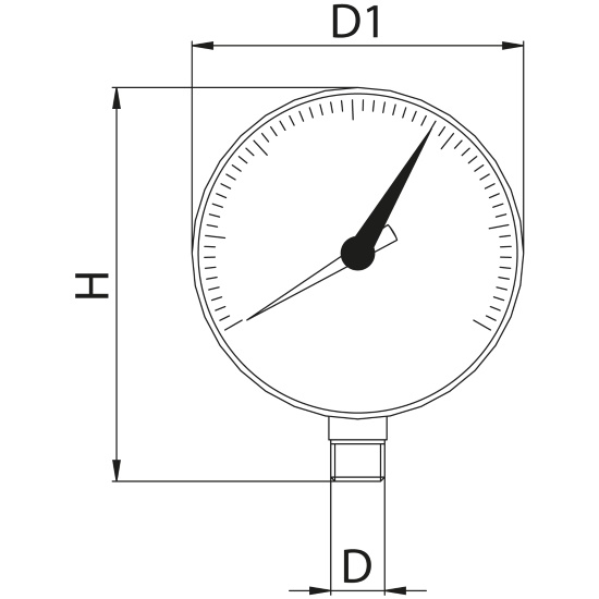 Scheda tecnica - Manometer with vertical connection