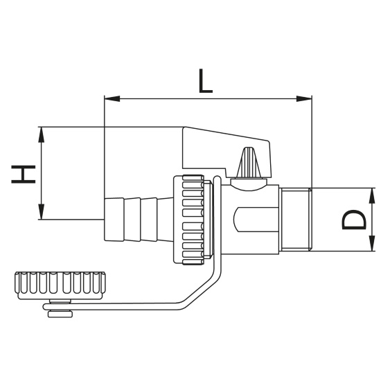 Scheda tecnica - Drain ball valve for boiler with cap and hose connection