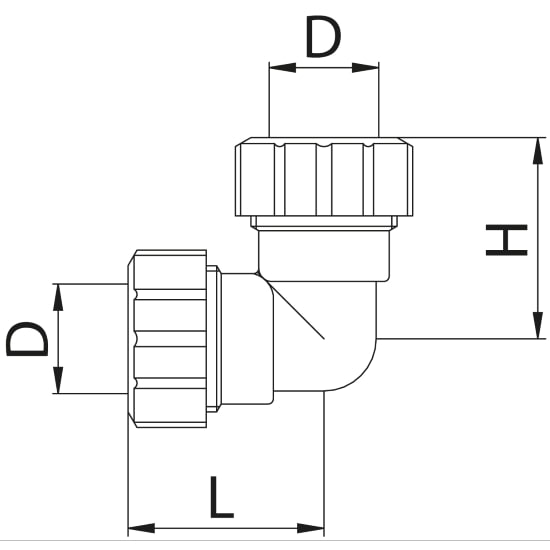 Scheda tecnica - Double curved pipe fitting quick connection