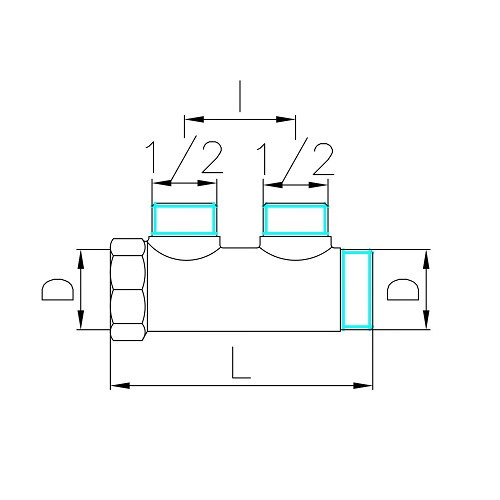 Datasheet - Manifold with 2 male offtakes