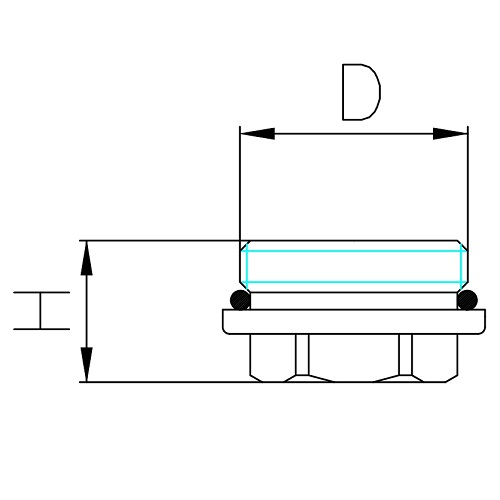 Datasheet - Male plug with O-Ring for manifold