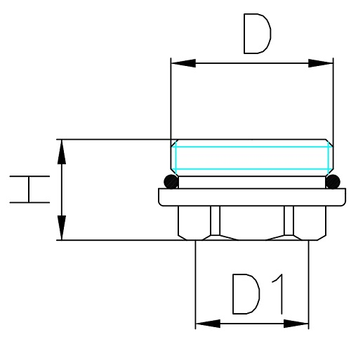 Datasheet - Male-female reducer with O-ring for manifold