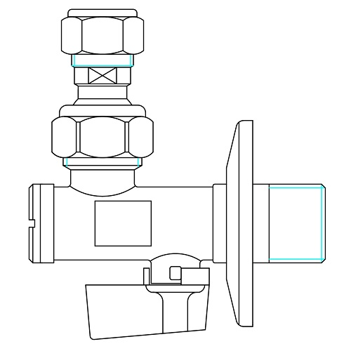 Datasheet - Ball angle valve with filter and articulated joint