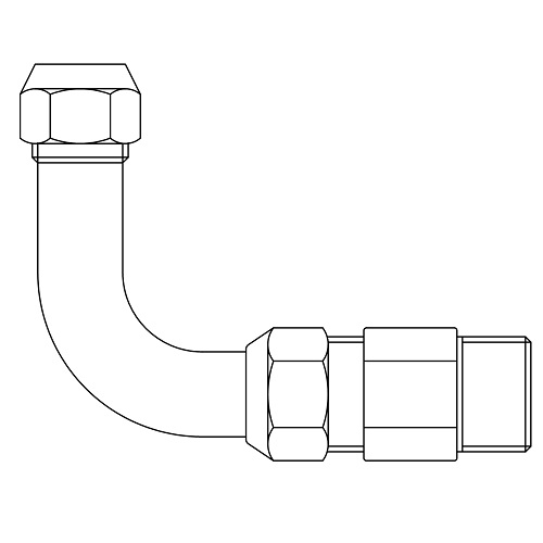 Datasheet - Elbow pipe for under-washbasin with sliding rosette