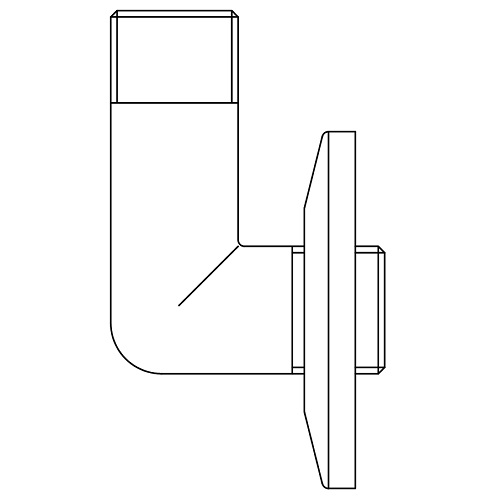 Datasheet - Male-male elbow pipe with rosette