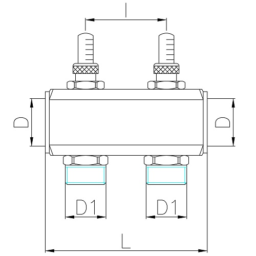 "Datasheet - FF manifold with 3/4"" M Euroconus outlets with fl ow meters"