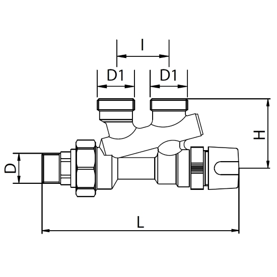 Datasheet - Thermostatisable monopipe valve with incorporated By-Pass lockshield