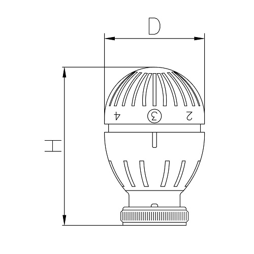 Datasheet - Thermostatic head with liquid sensor