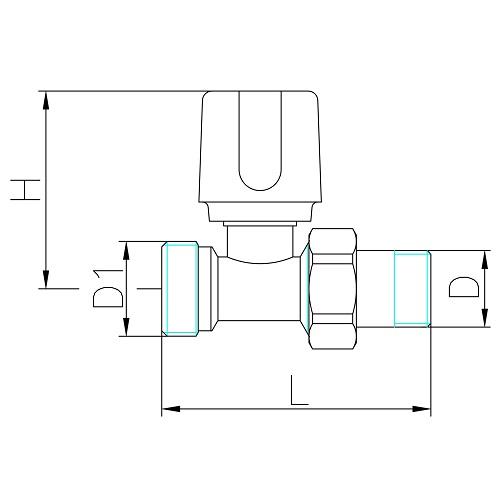 Valvola diritta eurocono attacco tubo rame multistrato e pex for Linee d acqua pex vs rame