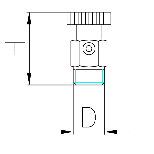 Datasheet - Air discharge valve with OR and brass handle
