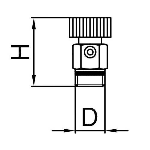 Datasheet - Air discharge valve with PTFE sealing and plastic handle