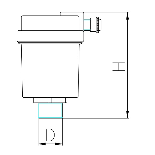 Datasheet - Automatic air discharge valve with side drain