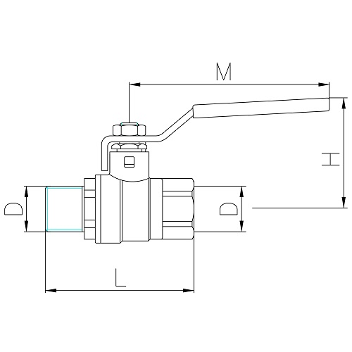 Datasheet - MF ball valve PN30 with aluminum lever handle