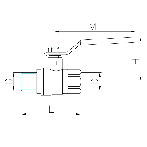 Datasheet - MF gas ball valve with iron lever handle