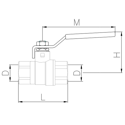 Datasheet - FF heavy full bore gas ball valve with iron lever handle