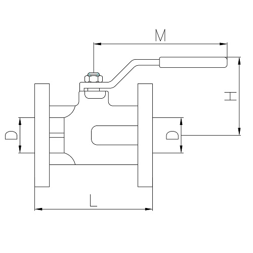 Datasheet - Cast iron flanged ball valve