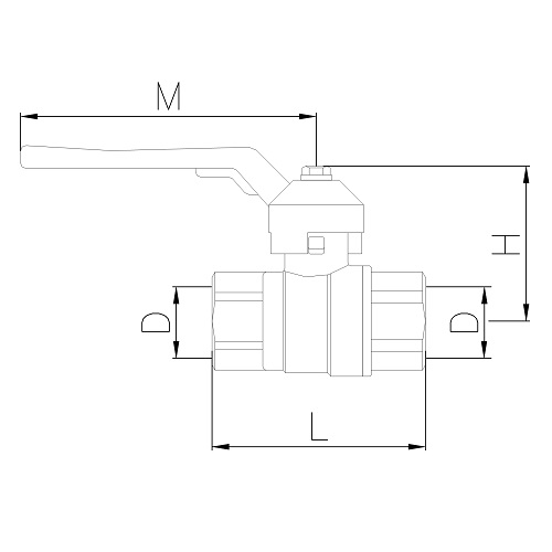 Datasheet - FF ball valve PN30 with aluminum lever handle