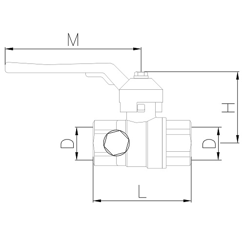 Datasheet - FF ball valve PN25 with drain and iron lever handle
