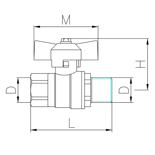 Datasheet - MF gas ball valve with butterfl y handle