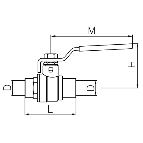 Datasheet - Full port ball valve CxC
