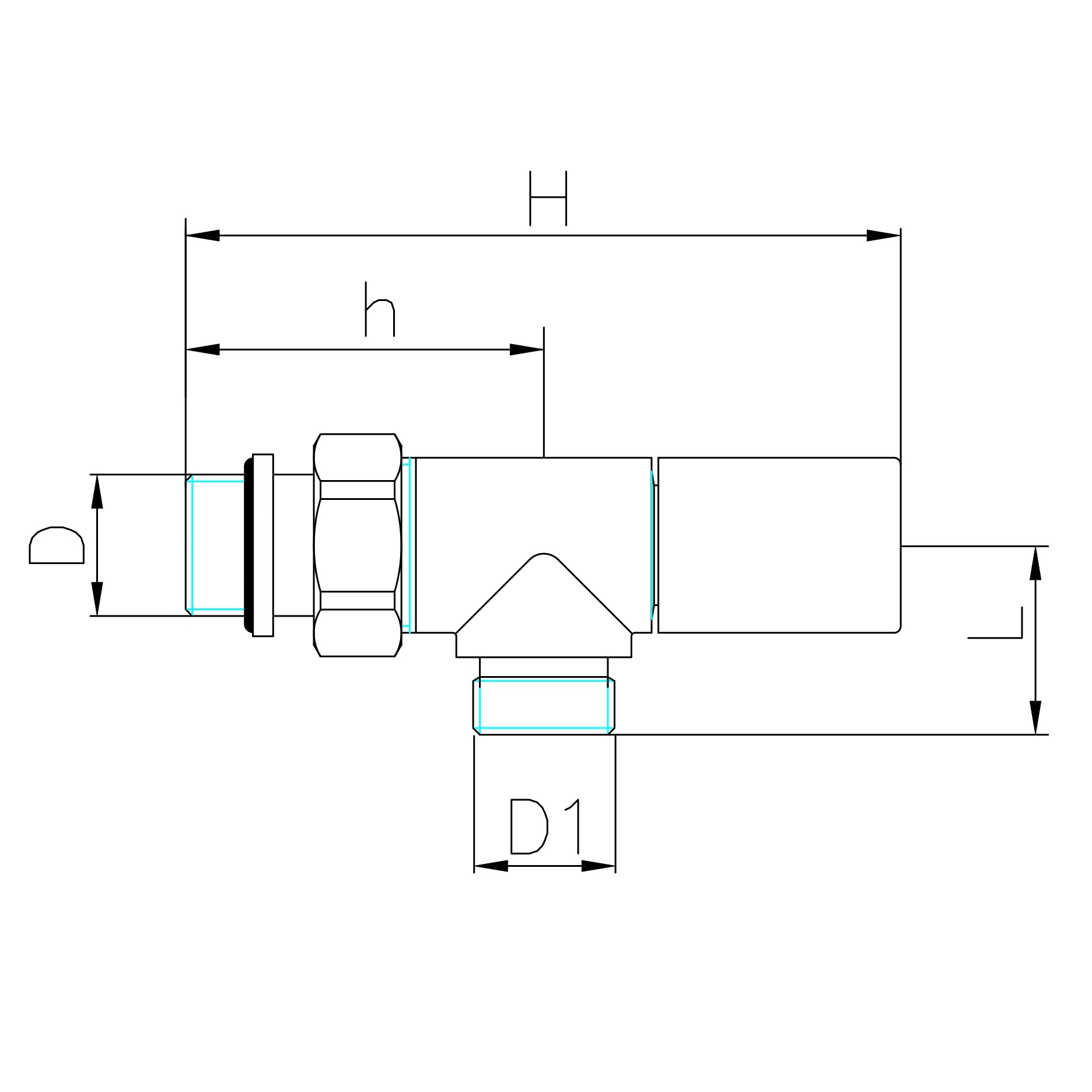 Valvola radiatore reversa attacco tubo rame multistrato for Linee d acqua pex vs rame