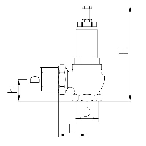 Datasheet - Safety valve, female connection