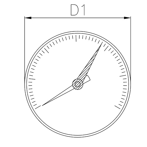 Datasheet - Manometer Ø 63 back connection