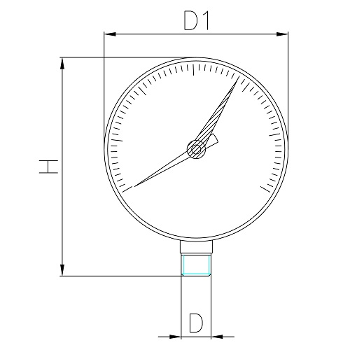 Datasheet - Manometer with vertical connection
