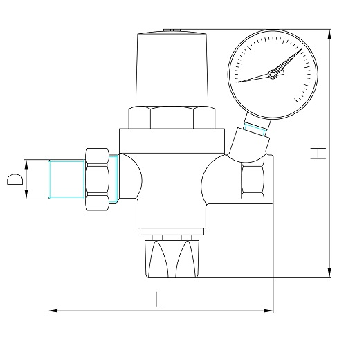 Datasheet - Automatic valve with manometer