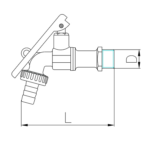 Datasheet - Oil barrel ball bibcock with hose connection