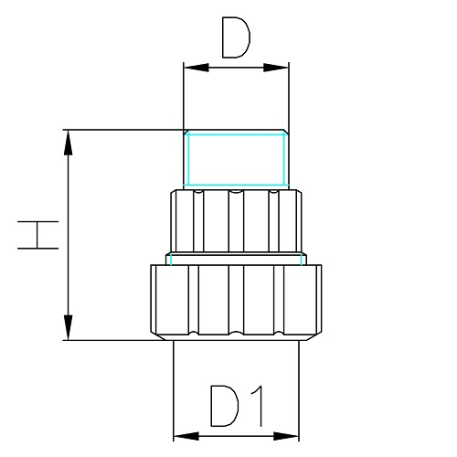 Datasheet - Male straight pipe fitting