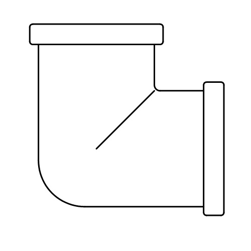 Datasheet - FF elbow fitting