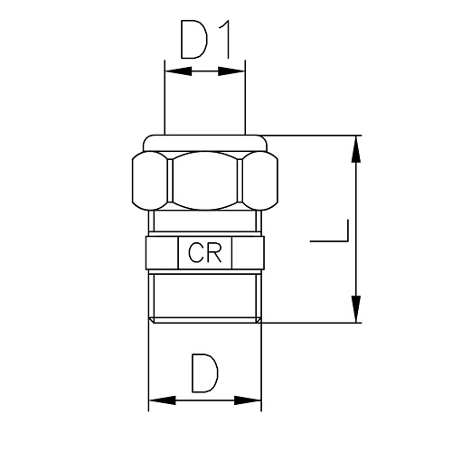 Datasheet - Straight male coupling DZR brass
