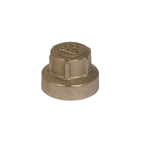 Brass cap for lock-shield valve PREMIUM series