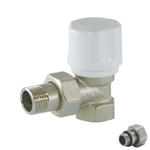 Angle radiator valve for iron pipe