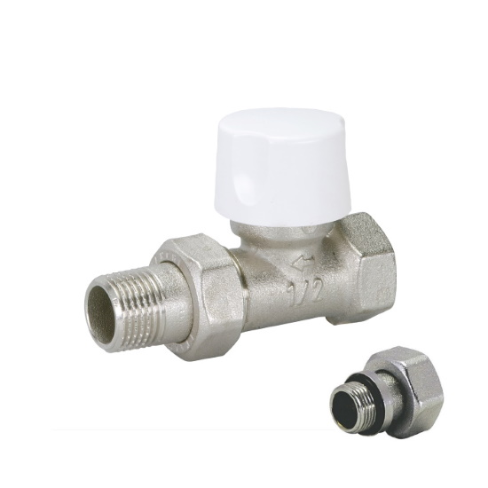 Straight thermostatic radiator valve for iron pipe
