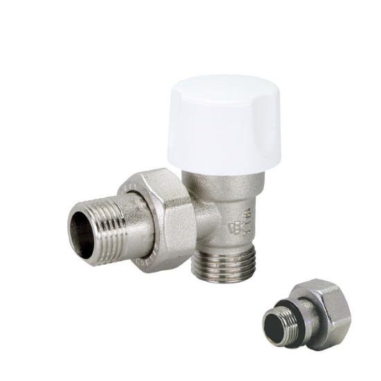 Angle thermostatic radiator valve for copper, multilayer and Pex pipe