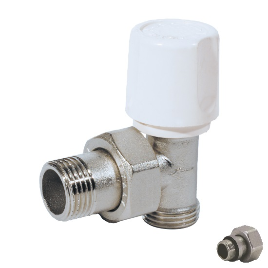 Euroconus angle radiator valve for copper, multilayer and Pex pipe