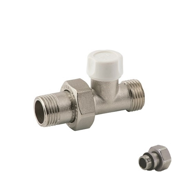 Straight lockshieldvalve for copper, multilayer and Pex pipe