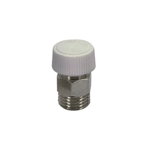 Air discharge valve with plastic handle