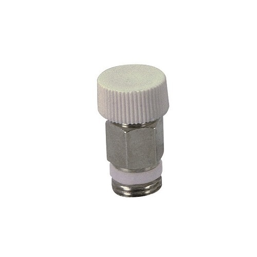 Air discharge valve with PTFE sealing and plastic handle