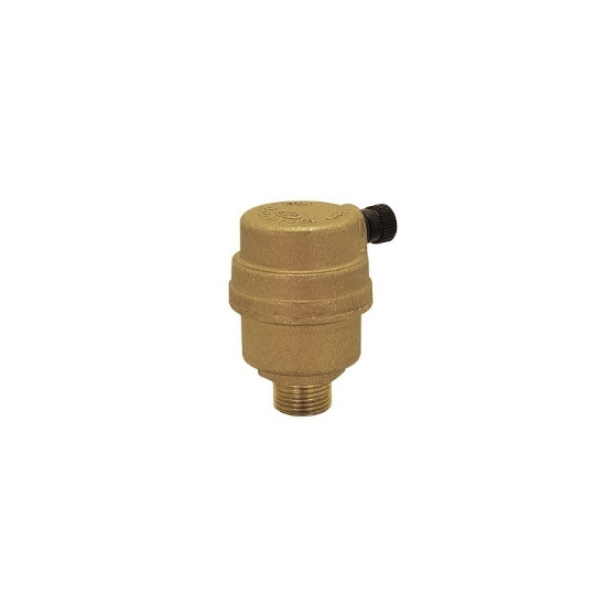 Automatic air discharge valve with side drain